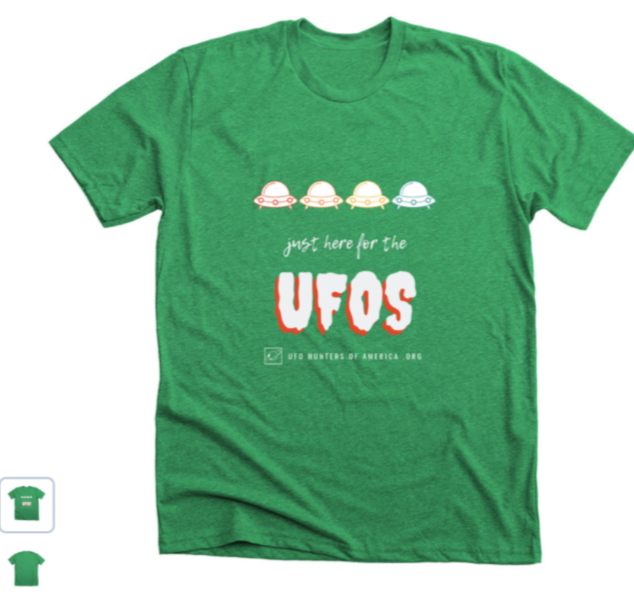 ufo hunters of america green tee