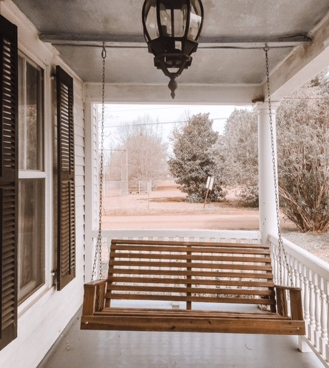 front porch swing cottage farmhouse historical antique