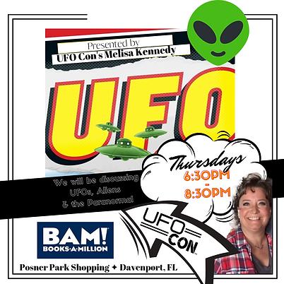 melisa kennedy ufo events mufon orlando florida davenport lakeland books a million ufo woman rh negative blood paranormal