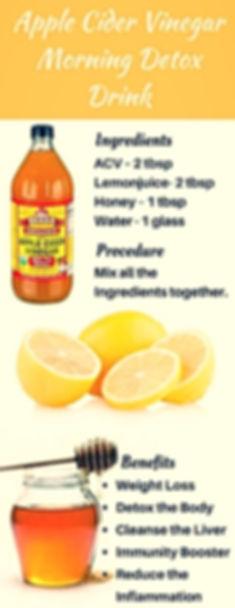 morning detox drink apple cider vinegar benefits