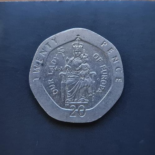 Gibraltar Lady of Europe 20p - 1998