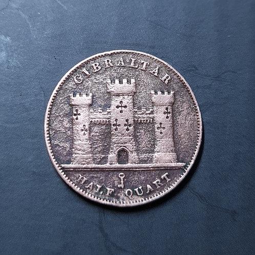 Gibraltar Half Quart - 1842 Bronze (Queen Victoria)
