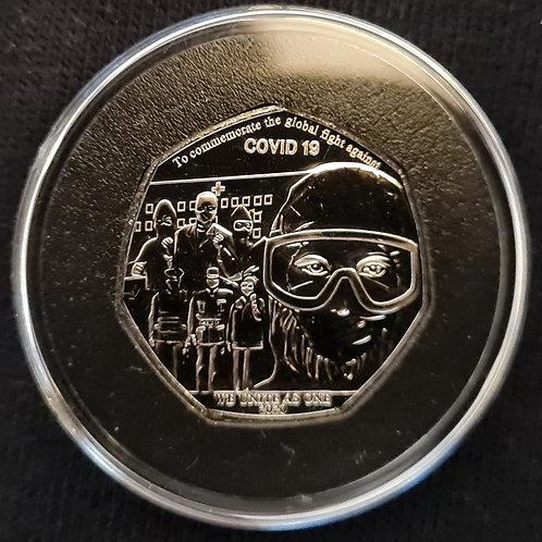 COVID-19 50p Coin - 2020 Cupro Nickel BUNC (IN HAND)
