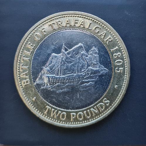 Gibraltar Trafalgar £2 Coin - 2007 Bi-Metallic