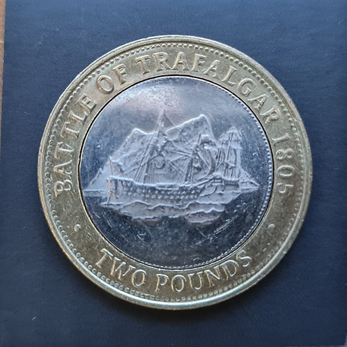Gibraltar Trafalgar £2 Coin - 2011 Bi-Metallic