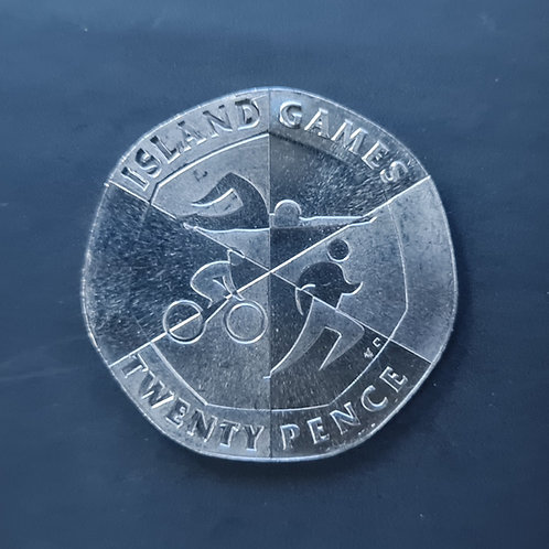 Gibraltar Island Games 20p Coin - 2019 Cupro Nickel