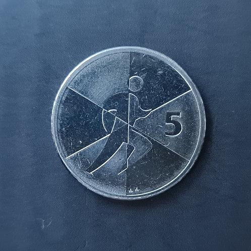 Gibraltar Island Games 5p Coin - 2019 Cupro Nickel