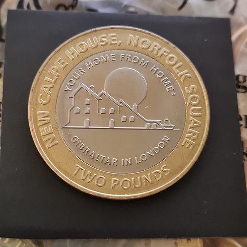 Gibraltar Calpe House £2 Coin - 2018 Bi-Metallic UNC
