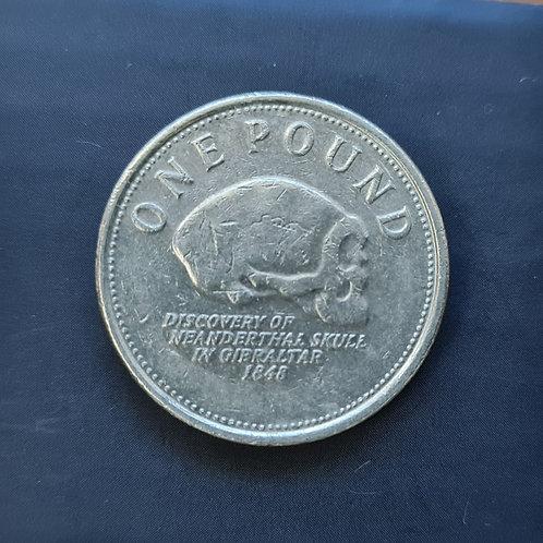 Gibraltar Neanderthal Skull £1 - 2009