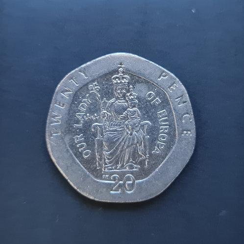 Gibraltar Lady of Europe 20p - 1999
