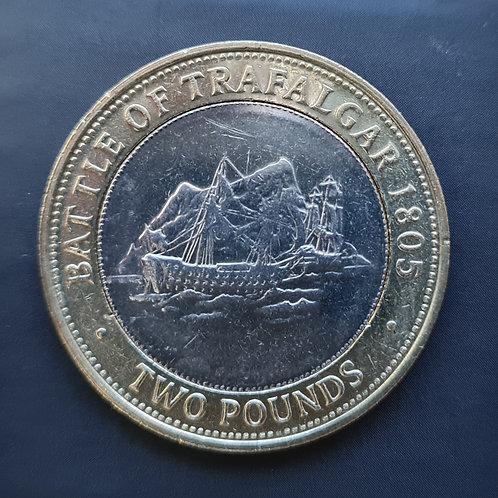 Gibraltar Trafalgar £2 Coin - 2006 Bi-Metallic