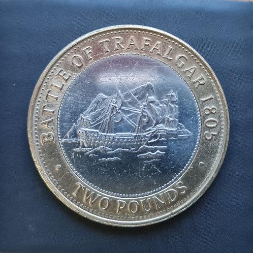 Gibraltar Trafalgar £2 Coin - 2012 Bi-Metallic