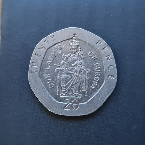 Gibraltar Lady of Europe 20p - 1988 AA