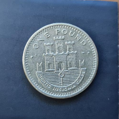 Gibraltar Moorish Castle £1 - 2002 AD