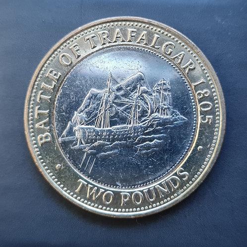 Gibraltar Trafalgar £2 Coin - 2005 Bi-Metallic
