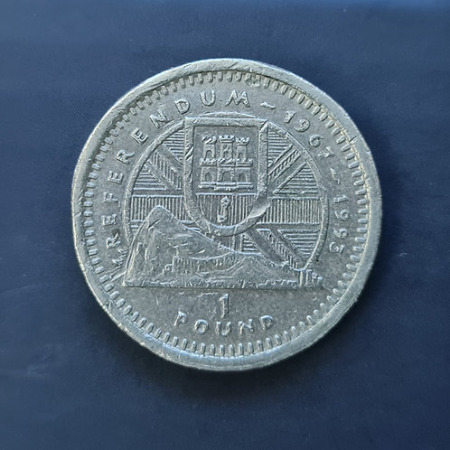 Gibraltar Referendum £1 - 1993