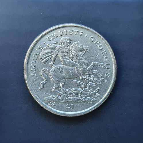 Gibraltar St George Slaying the Dragon £1 - 2003