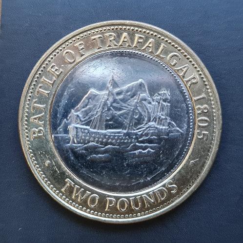 Gibraltar Trafalgar £2 Coin - 2010 Bi-Metallic