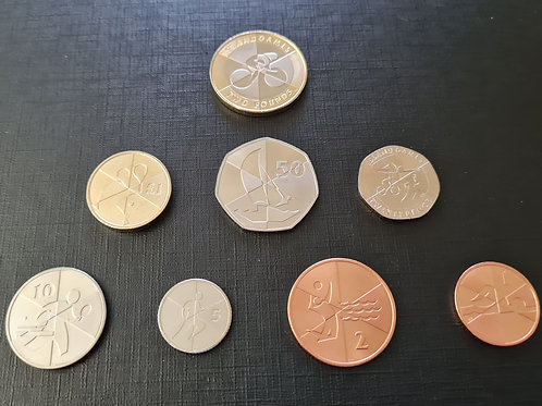 Gibraltar Island Games Set - 2019 - 1 penny to £2 (all UNC)