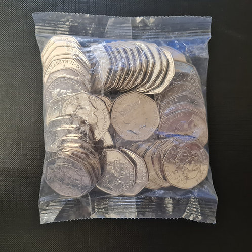 Sealed Bag of 2020 Christmas 50p Coins