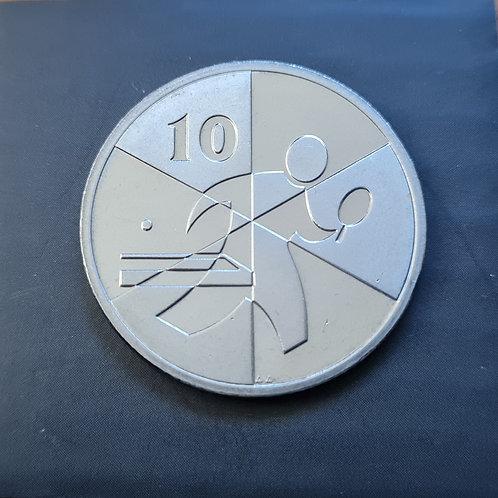 Gibraltar Island Games 10p Coin - 2019 Cupro Nickel