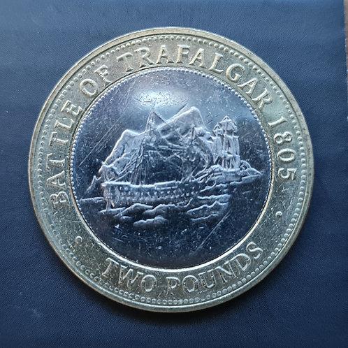 Gibraltar Trafalgar £2 Coin - 2013 Bi-Metallic