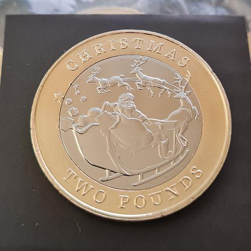 Gibraltar Christmas £2 Coin - 2020 Bi-metallic UNC
