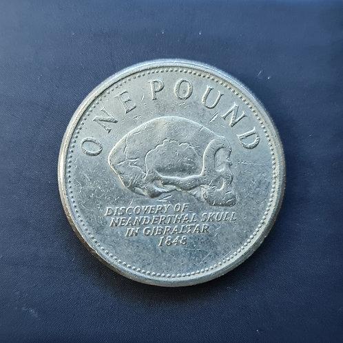 Gibraltar Neanderthal Skull £1 - 2012