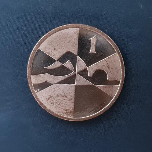 Gibraltar Island Games 1p Coin - 2019 UNC