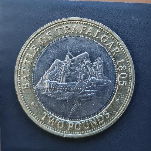 Gibraltar Trafalgar £2 Coin - 2008 Bi-Metallic