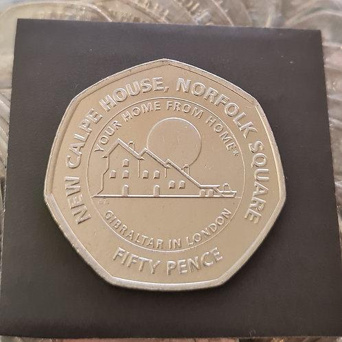 Gibraltar Calpe House 50p Coin - 2018 Cupro Nickel