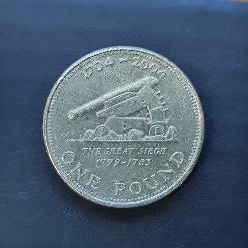 Gibraltar Cannon £1 - 2004