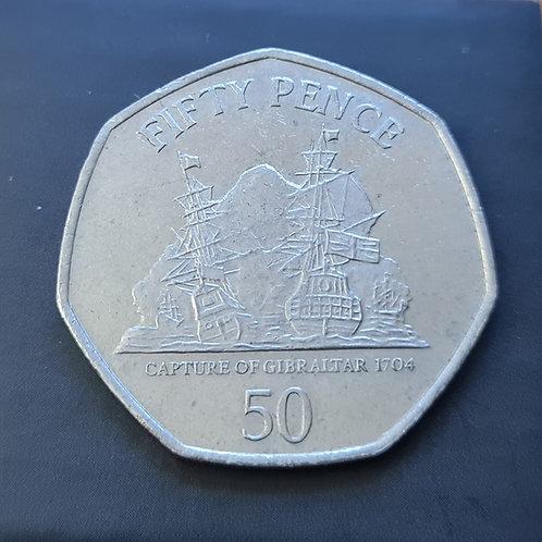 Gibraltar Capture of Gibraltar 50p Coin - 2012 Cupro Nickel