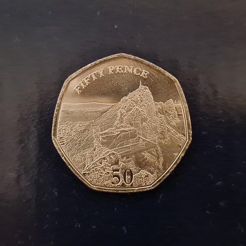 Gibraltar Skywalk 50p coin - 2020 Cupro Nickel