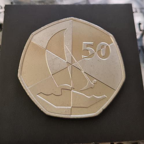 Gibraltar Island Games 50p Coin - 2019 Cupro Nickel UNC