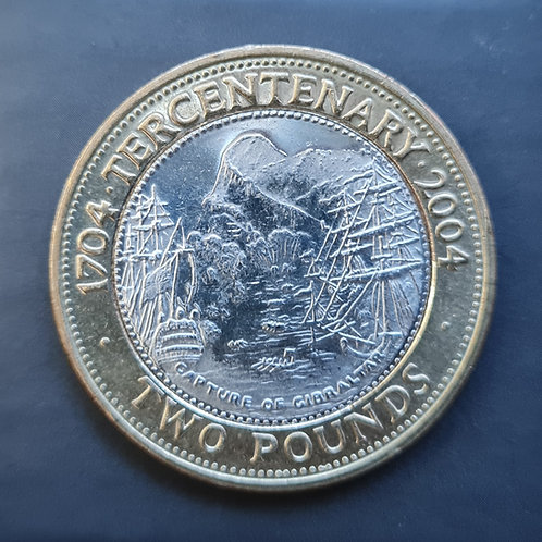 Gibraltar Tercentenary £2 Coin - 2004 Bi-Metallic