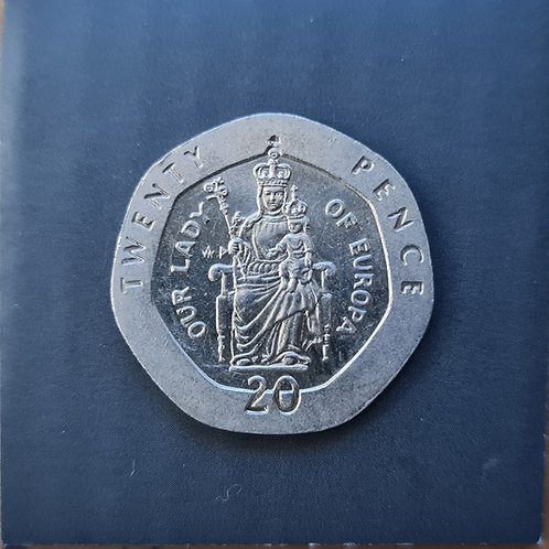 Gibraltar Lady of Europe 20p - 1988 AD