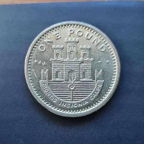 Gibraltar Moorish Castle £1 - 2002 AA