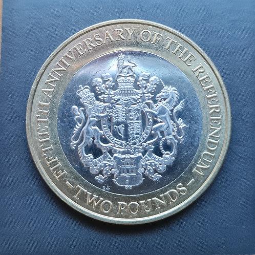 Gibraltar Referendum £2 - 2017 Bi-Metallic