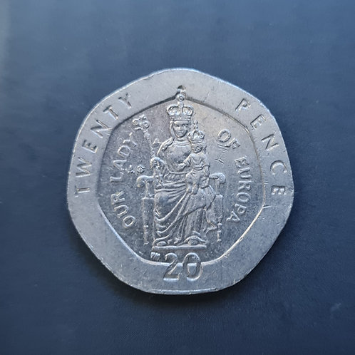 Gibraltar Lady of Europe 20p - 2001