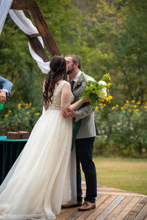 Backyard Wedding Kiss