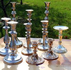 Silver Candlestick Set