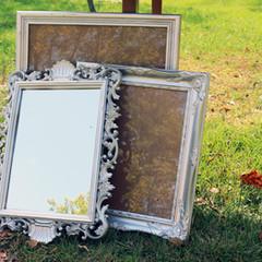 Ornate Silver Frame + Mirrors