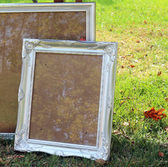 Large Silver Ornate Frame with Glass