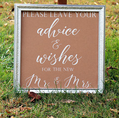 Advice and Wishes Sign