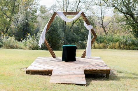 Backyard Wedding Arch