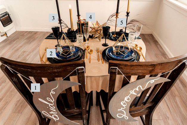 Moody Celestial Sweetheart Table