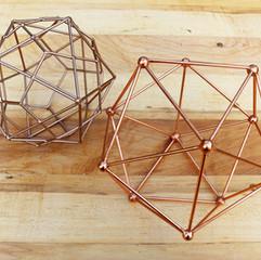 Copper Geometric Decorations