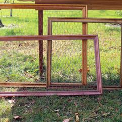 Gold + Copper Chicken Wire Frame