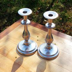 Medium Silver Candlesticks